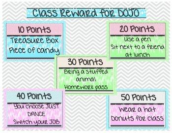 Classroom Reward Coupons Bubbles and Chevron