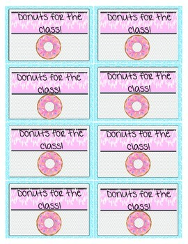 Editable Classroom Reward Coupons Bubbles and Chevron