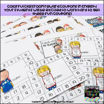 Classroom Reward Coupons ENGL