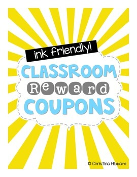 Classroom Reward Coupons (Ink Friendly)