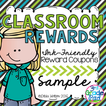 Classroom Reward Coupons: Ink-Friendly Coupon Sample