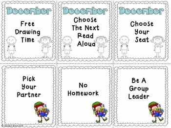 Classroom Reward Coupons (Season Themed)