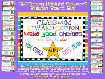 Classroom Reward Coupons Set 1- Large Size