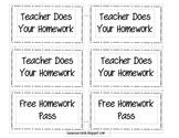 Classroom Reward/ Incentive Tickets