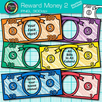 Classroom Reward Money Clip Art {Create Your Own Behavior Management System} 2
