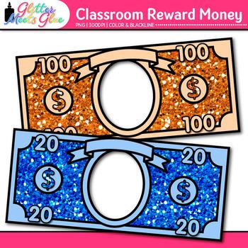 Classroom Reward Money Clip Art {Create Your Own Behavior Management System}