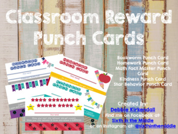 Classroom Reward Punch Cards