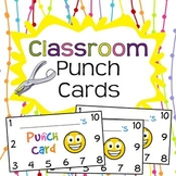 Classroom Reward Punch Cards - Digital Download