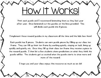 Classroom Reward Puzzles