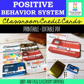 Classroom Reward System - Debit Cards for Kids