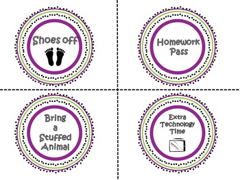 Classroom Reward Tickets