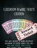 Classroom Reward Tickets Chevron