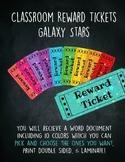 Classroom Reward Tickets Galaxy Stars