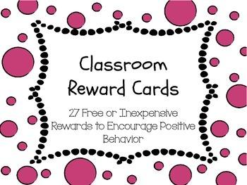 Bubbles - Classroom Rewards Cards