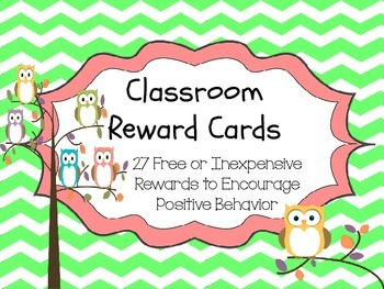 Chevrons and Owls - Classroom Rewards Cards