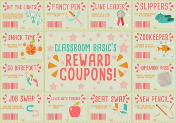 Classroom Rewards Coupons! (Editable)