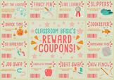 Classroom Rewards Coupons! (Editable)