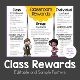 Class Rewards - Editable and Sample Posters {FREEBIE}