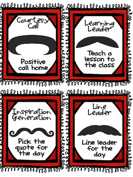 Classroom Reward Coupons: Mustache Themed Positive Incentives