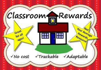 Classroom Rewards No Cost Trackable Adaptable Prizes