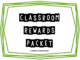 Classroom Rewards Packet