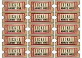 Classroom Rewards Performance Night Tickets Printable DIY Vintage