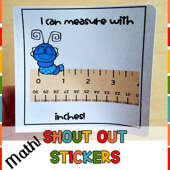 Classroom Rewards Shout Out Stickers MATH