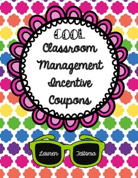 "Classroom Management Incentive ""Coupons"""