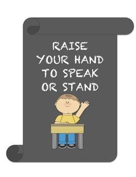 Chalkboard Classroom Rhyming Rules