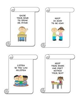 Classroom Rhyming Rules
