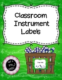 Classroom Rhythm Instrument Labels for Classroom Percussion