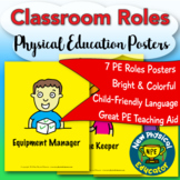 Classroom Roles Physical Education and Health Posters