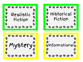 Classroom Room Library Labels - Dog Theme