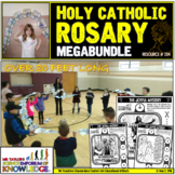 80 Foot Classroom Coloring Rosary Megabundle (The Four Mysteries)