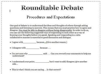 Classroom Roundtable Debate