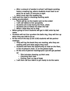 Classroom Routine