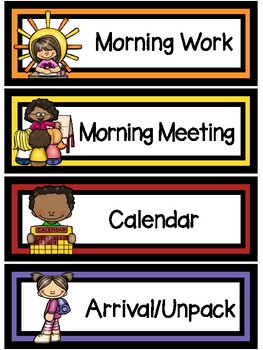 Classroom Routine/Daily Schedule Signs-The Modern Classroom
