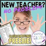 Classroom Routines Checklist