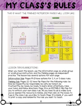Classroom Routines & Expectations Interactive Notebook
