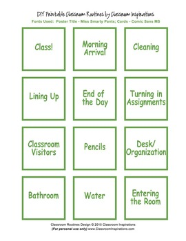 Classroom Routines Interactive Posters – Match Sock Monkey Classroom Theme