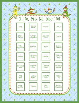 Classroom Routines Interactive Posters – Match Sock Monkey