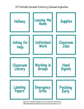 Classroom Routines Interactive Posters – Matches Book Smart Owl Products