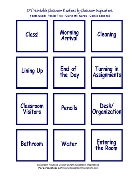 Classroom Routines Interactive Posters – Matches Pretty Paisley Classroom Theme