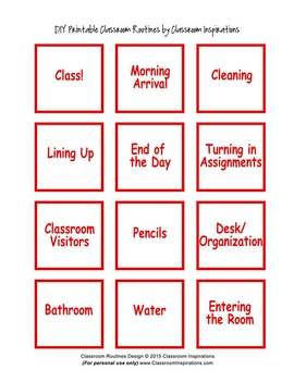 Classroom Routines Interactive Posters in Seuss-like Colors