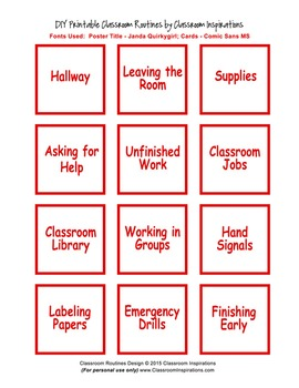 Classroom Routines Interactive Posters–Matches Ladybugs and Dots Theme Products