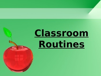 Classroom Routines Presentation