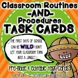 Classroom Routines & Procedures Task Cards