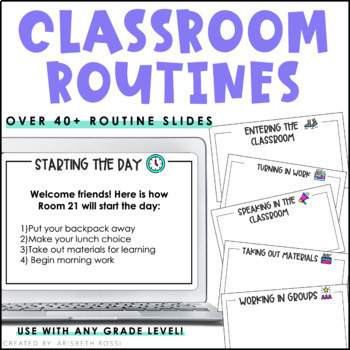 Classroom Routines Slides (Slides for Google Drive™)