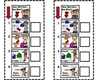 Classroom Morning Rule Posters for Morning Routines K,1, SpEd &ELL