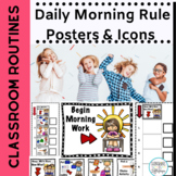 Classroom Morning Rule Posters for Morning Routines K,1, S